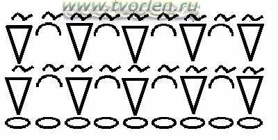 сетка тунисским крючком лицевые петли (схема)