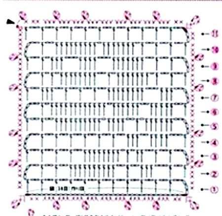 схема салфетки в филейной технике