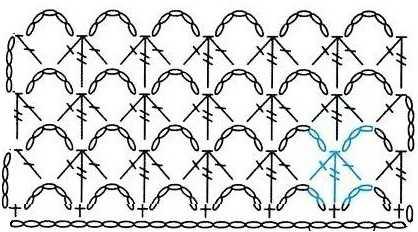 схема узора крючком 17-1-1