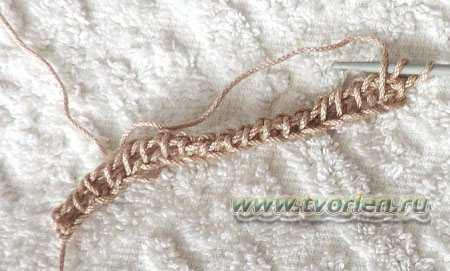 филейная сетка тунисским крючком (2)