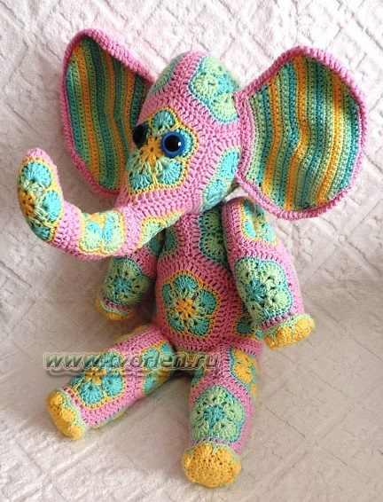 слоник в цветочек