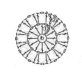 разбираем схему салфетки -2 ряд