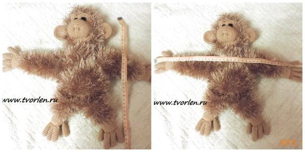 обезьяна спицами и крючком
