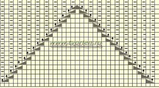 схема узора для митенок - 2
