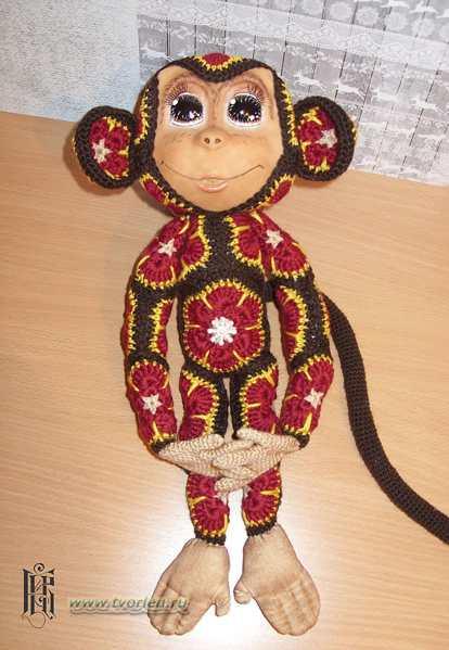 обезьянка из мотивов Натальи Кудиной