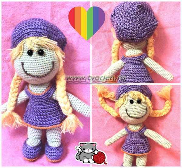 вязаная кукла Маша крючком