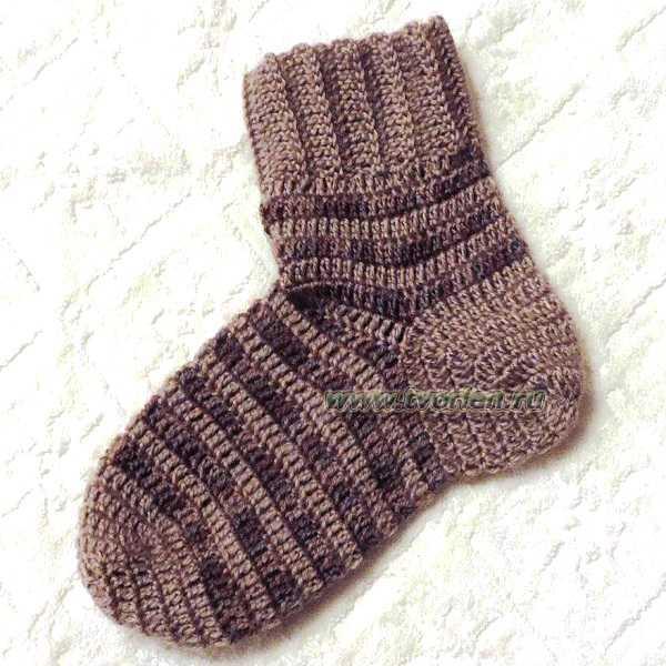 связать носки крючком практика (13)