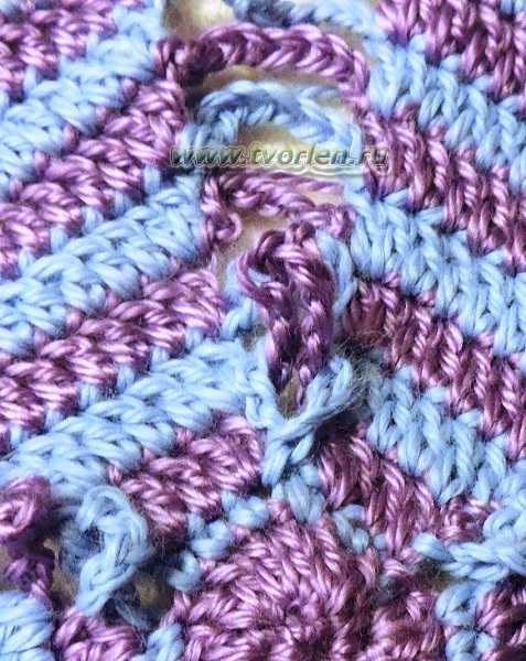 подушка крючком карамелька (7)
