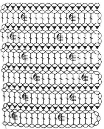 шишечка крючком - схема