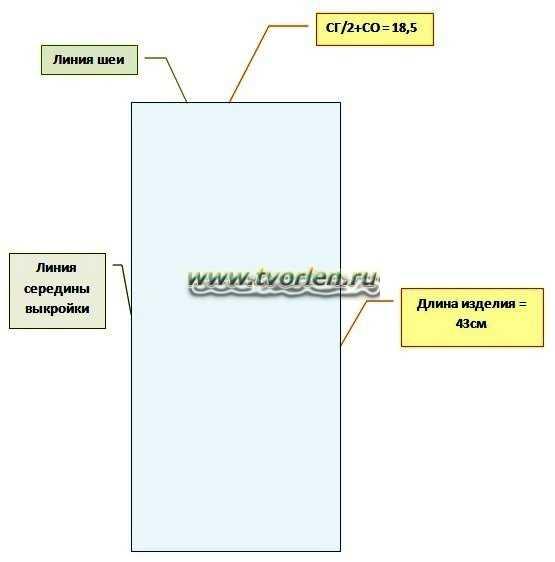 как сделать выкройку для безрукавки (2)