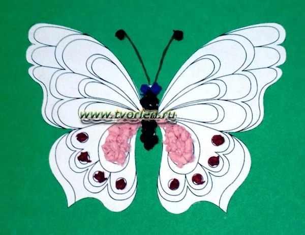 аппликация из бумаги бабочка (4)