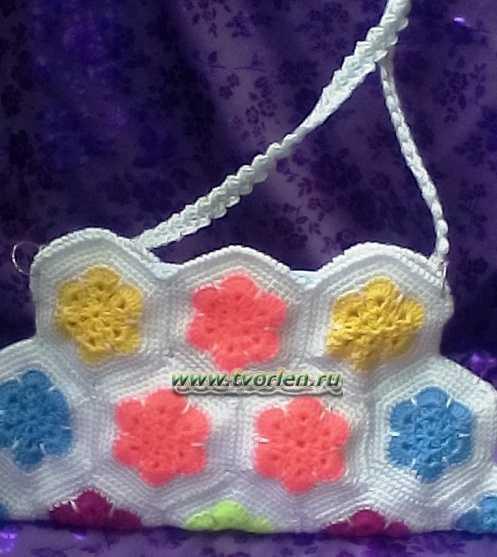 a230f2c10e88 Вязаные сумки крючком из мотивов африканский цветок - Творим - не ...