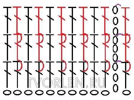 ложная резинка крючком-схема-2