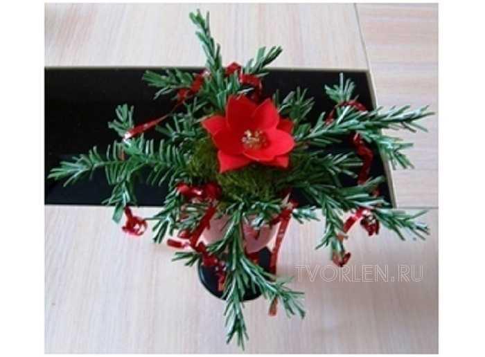 Новогодний букет из фоамирана мастер класс Гребневой Галины Алексеевны (Конкурсная работа)