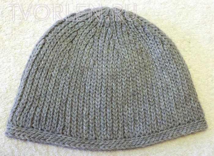 шапка бини мужская крючком - готовое изделие