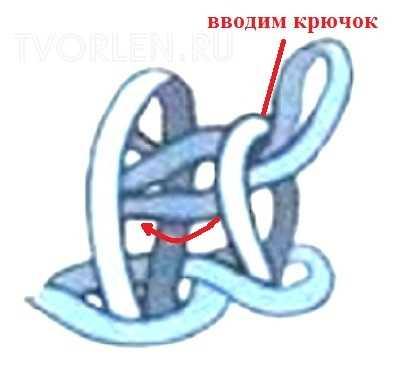 левостороннее тунисское вязание-схемы-2