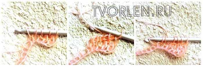 оригинальный шарф тунисским крючком(2)