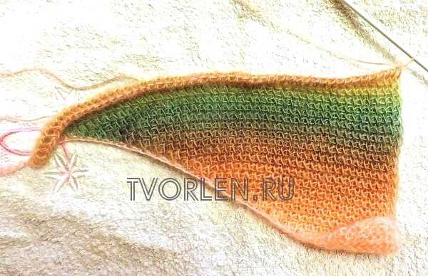 оригинальный шарф тунисским крючком(3)