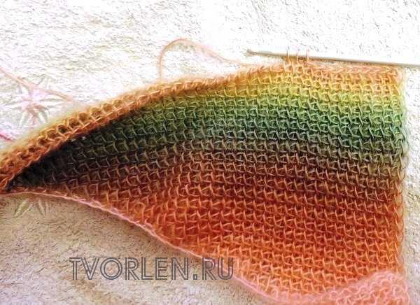 оригинальный шарф тунисским крючком(4)