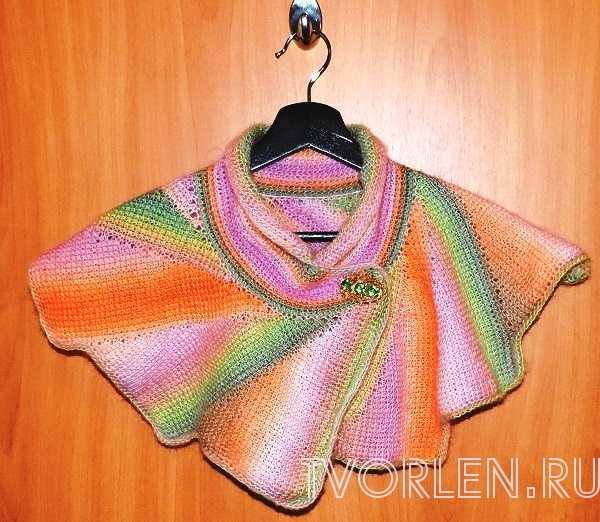 оригинальный шарф тунисским крючком(7)