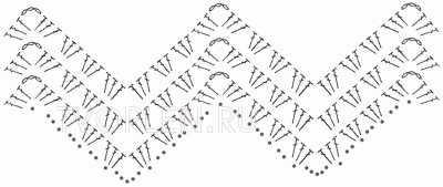 схема узора зиг-заг