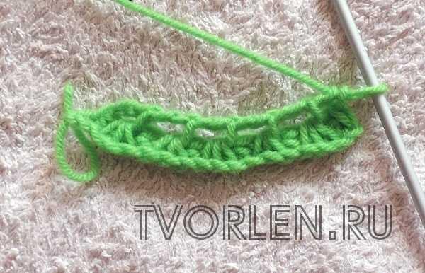 ажурные узоры тунисским крючком (4)
