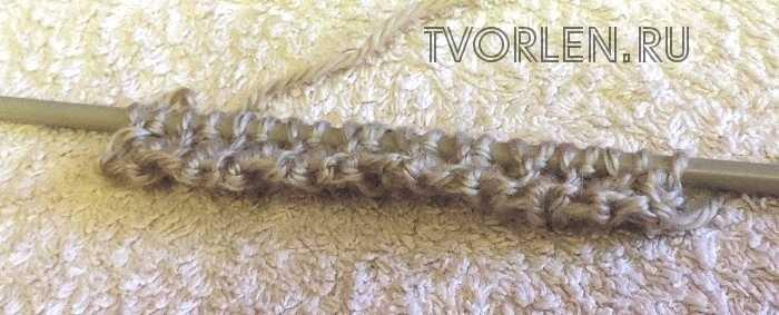 как набрать петли спицами для вязания резинки (4)