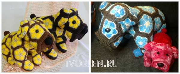 собачки из мотивов африканский цветок