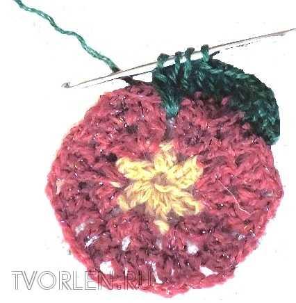 цветочный мотив крючком-накладной столбик (2)