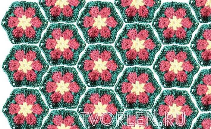 цветочный мотив крючком