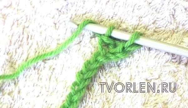 полустолбик с накидом крючком в два приёма-действие 1