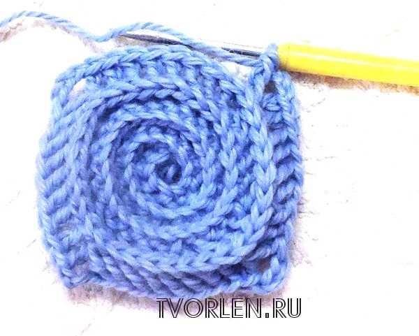 спиральный мотив крючком-пятый ряд