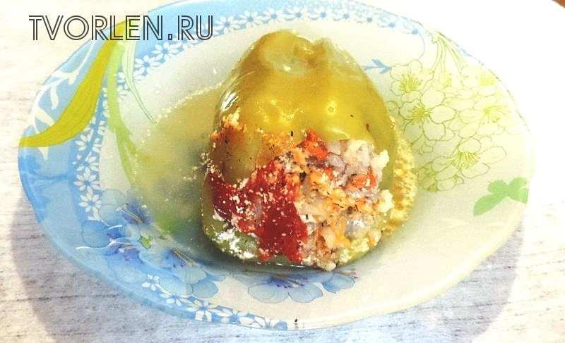 Фаршированный перец с мясом и рисом в кастрюле  — рецепт приготовления