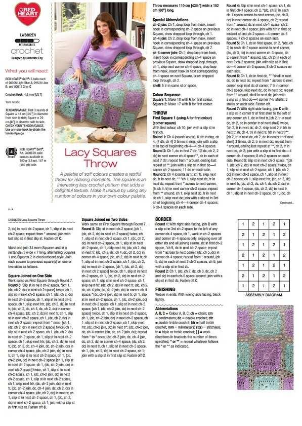 описание вязания пледа из журнала
