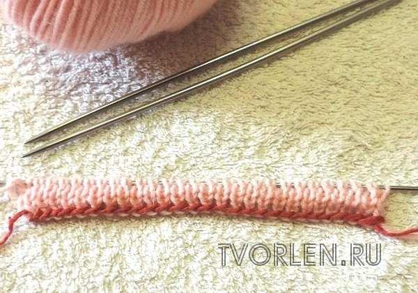 подготовка к вязанию резинки