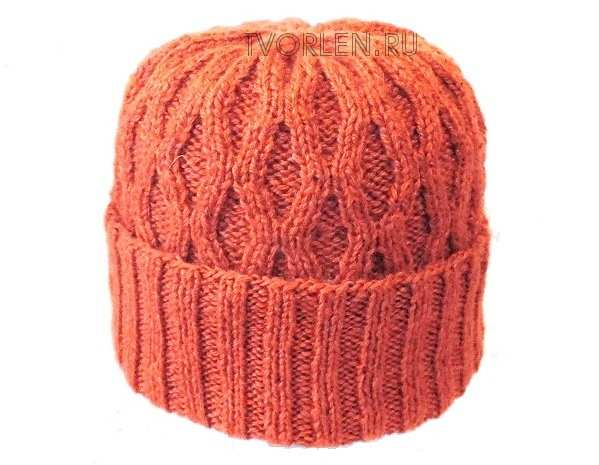 шапка спицами по описанию