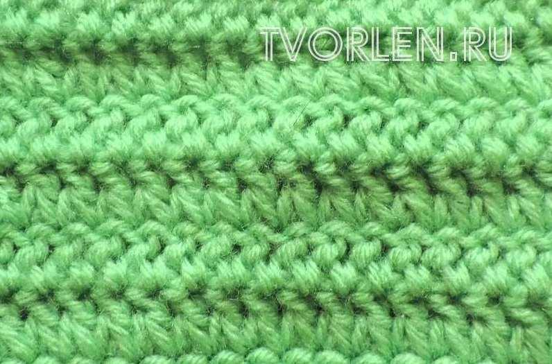 Необычный способ вязания полустолбика с накидом или носочный столбик крючком