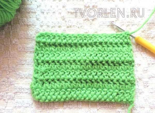 носочные столбики-образец вязания