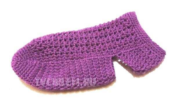 вязание носок крючком