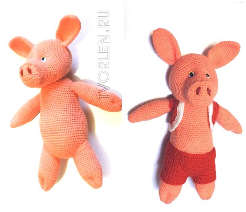 вязание свинки крючком