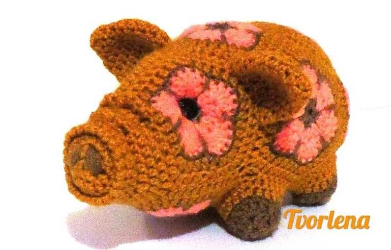 игрушка из мотивов африканский цветок - маленькая свинка