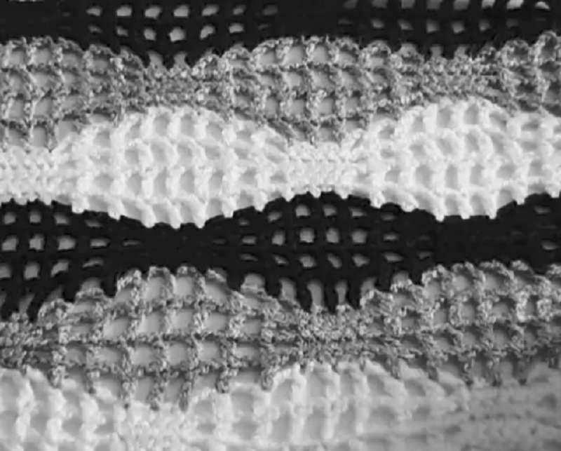 волнистый узор крючком