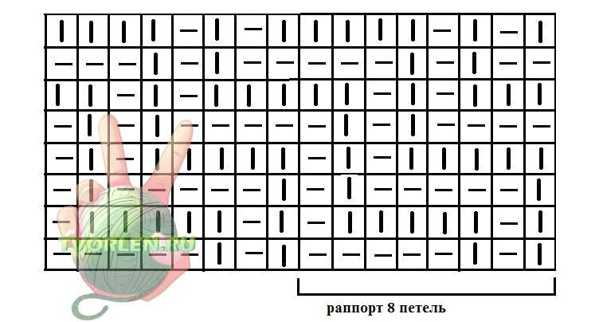 схема узора с диагональными полосами