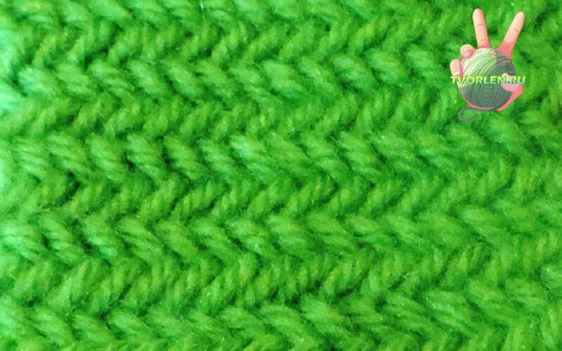 тканевый узор ёлочка спицами