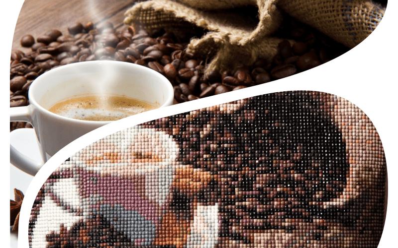 алмазная мозаика чашка кофе