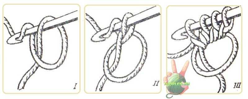 набор петель для салфетки спицами