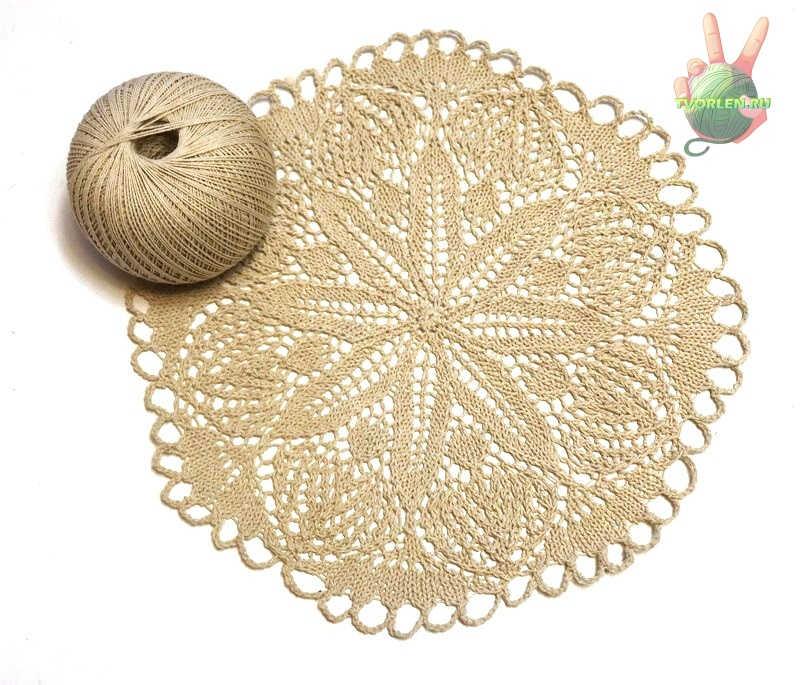 описание вязания салфетки спицами