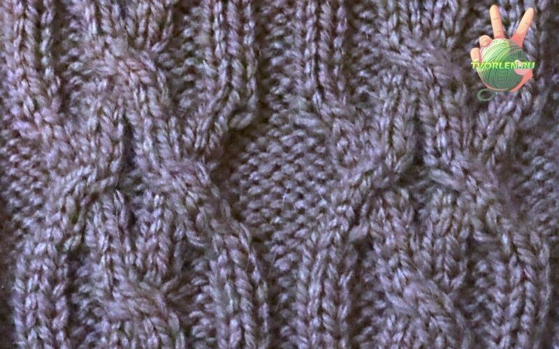араны - схема вязания спицами узора для мужского пуловера