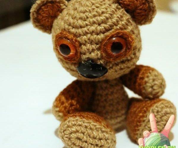 маленький мишка коала крючком с описанием