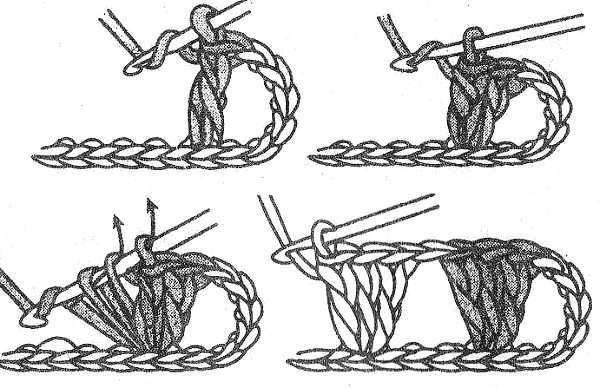 столбики с накидом из одной петли